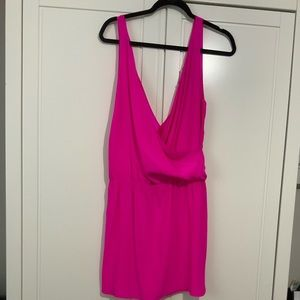 NWOT Amanda Uprichard silk hot pink dress Medium